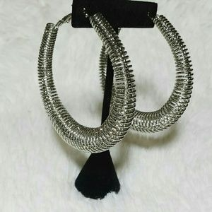 Jewelry - Silver Coil Hoop Earrings